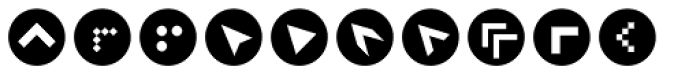 ClickBits Arrow Bullets 2 Font UPPERCASE
