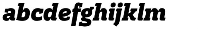 Cline Slab Black Italic Font LOWERCASE