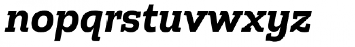 Cline Slab Bold Italic Font LOWERCASE