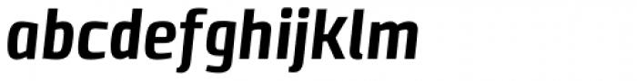 Clio Condensed Heavy Italic Font LOWERCASE