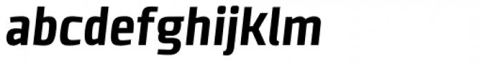 Clio Condensed Heavy Oblique Font LOWERCASE