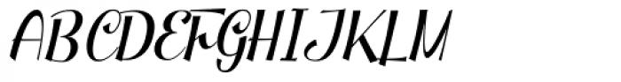 Clipper Script Fat Slanted Font UPPERCASE