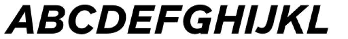 Clobber Grotesk Bold Italic Font UPPERCASE