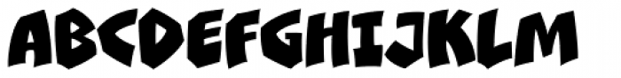 Clobberin Time Smooth Font UPPERCASE