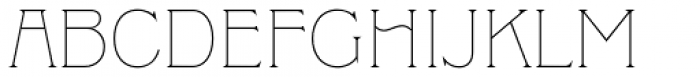 Clockmaker Thin Font UPPERCASE
