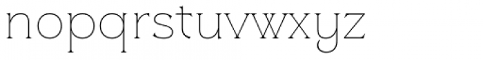 Clockmaker Thin Font LOWERCASE
