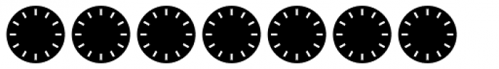 Clocktime Night Font OTHER CHARS