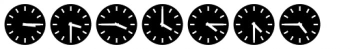 Clocktime Night Font UPPERCASE