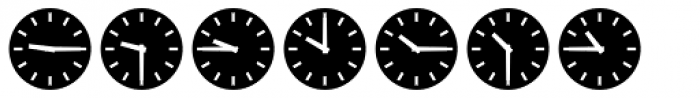 Clocktime Night Font LOWERCASE