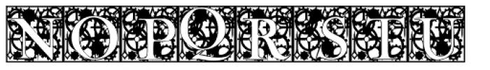 Clockwork Initials Font UPPERCASE