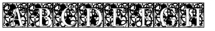 Clockwork Initials Font LOWERCASE