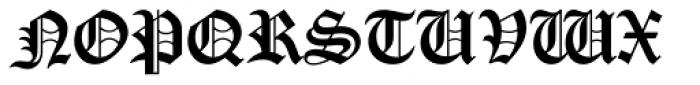 Cloister Black Font UPPERCASE