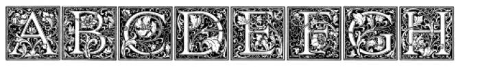 Cloister Initials Font UPPERCASE