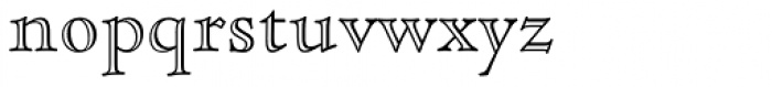 Cloister Open Face Font LOWERCASE