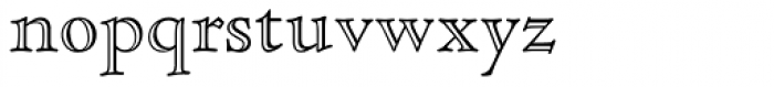 Cloister Std Open Face Font LOWERCASE