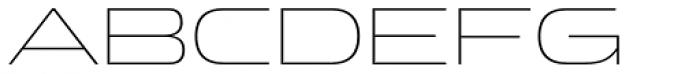 Clonoid ExtraLight Font UPPERCASE