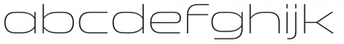 Clonoid ExtraLight Font LOWERCASE