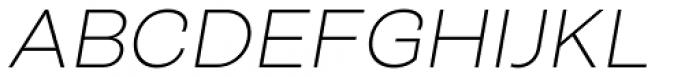 Closer Text Extra Light Italic Font UPPERCASE