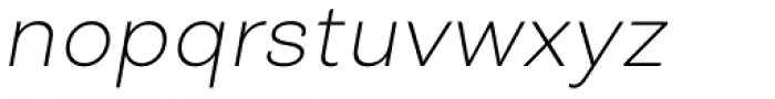 Closer Text Extra Light Italic Font LOWERCASE
