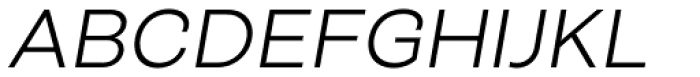 Closer Text Light Italic Font UPPERCASE
