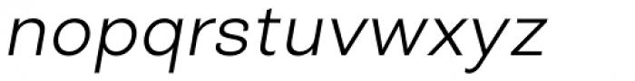 Closer Text Light Italic Font LOWERCASE