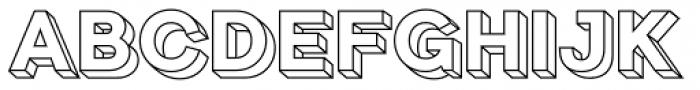 Clown 3 D Frame Font LOWERCASE