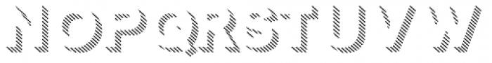 Clown 3 D Shadow Line Font LOWERCASE