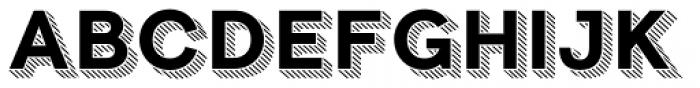 Clown Full Shadow Line Font LOWERCASE