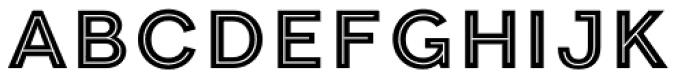 Clown Inline Font LOWERCASE