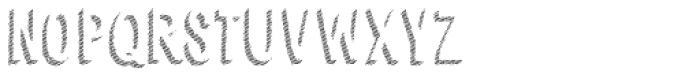 Cluster Shadow 123 Font LOWERCASE