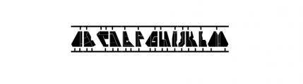 Cloak Model Font UPPERCASE