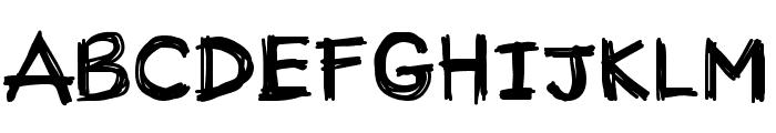 CM Handwriting One Font UPPERCASE