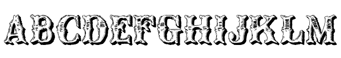 CM Old Western Shadow Font UPPERCASE