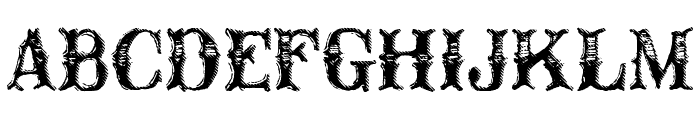 CM Old Western Font LOWERCASE