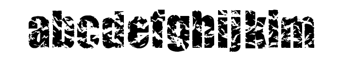 CMCorruged Font LOWERCASE