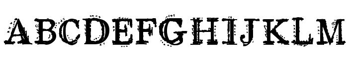 CMGrungeParty Font UPPERCASE