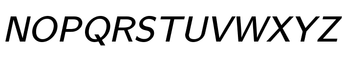 CMU Bright SemiBoldOblique Font UPPERCASE
