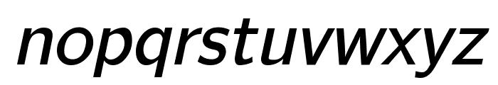 CMU Bright SemiBoldOblique Font LOWERCASE