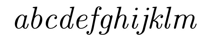 CMU Classical Serif Italic Font LOWERCASE