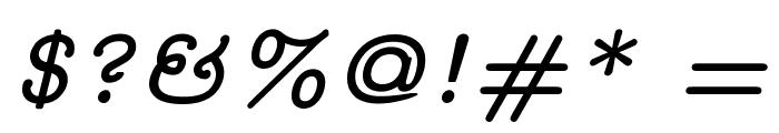 CMU Concrete BoldItalic Font OTHER CHARS