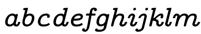 CMU Concrete BoldItalic Font LOWERCASE