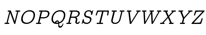 CMU Concrete Italic Font UPPERCASE