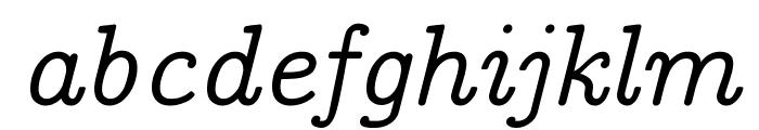 CMU Concrete Italic Font LOWERCASE