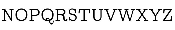 CMU Concrete Roman Font UPPERCASE
