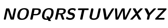 CMU Sans Serif BoldOblique Font UPPERCASE