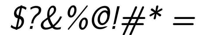CMU Sans Serif Oblique Font OTHER CHARS