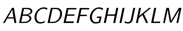 CMU Sans Serif Oblique Font UPPERCASE