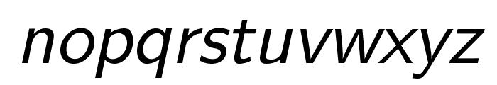 CMU Sans Serif Oblique Font LOWERCASE