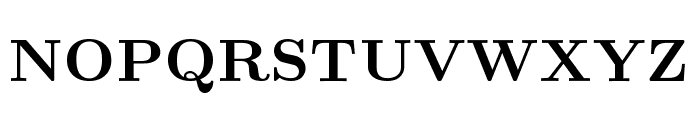 CMU Serif Bold Font UPPERCASE