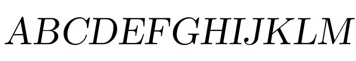 CMU Serif Extra RomanSlanted Font UPPERCASE